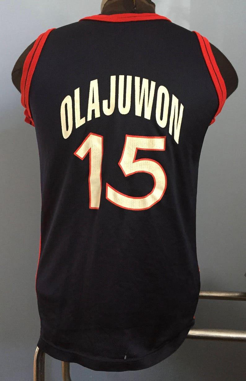 46bef841dbb2 90s Vintage Hakeem Olajuwon 15 USA 1996 Summer Olympics