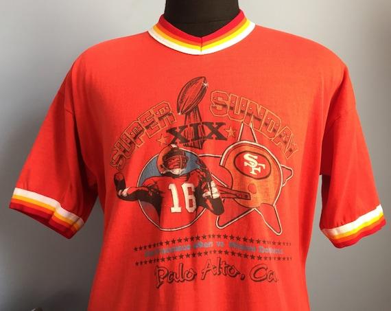 1d38cabf7 80s Vintage San Francisco 49ers Super Bowl XIX 1984 Joe | Etsy