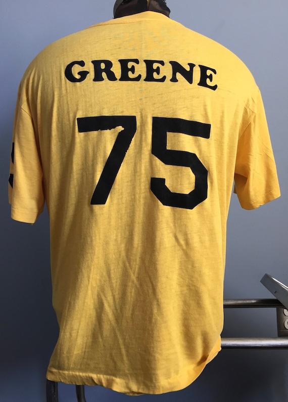 3ea837282 70s 80s Vintage Pittsburgh Steelers Mean Joe Green 75 nfl