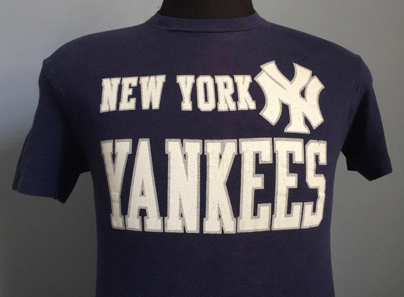 aed8c284 80s Vintage New York Yankees mlb baseball T-Shirt XS X-SMALL | Etsy