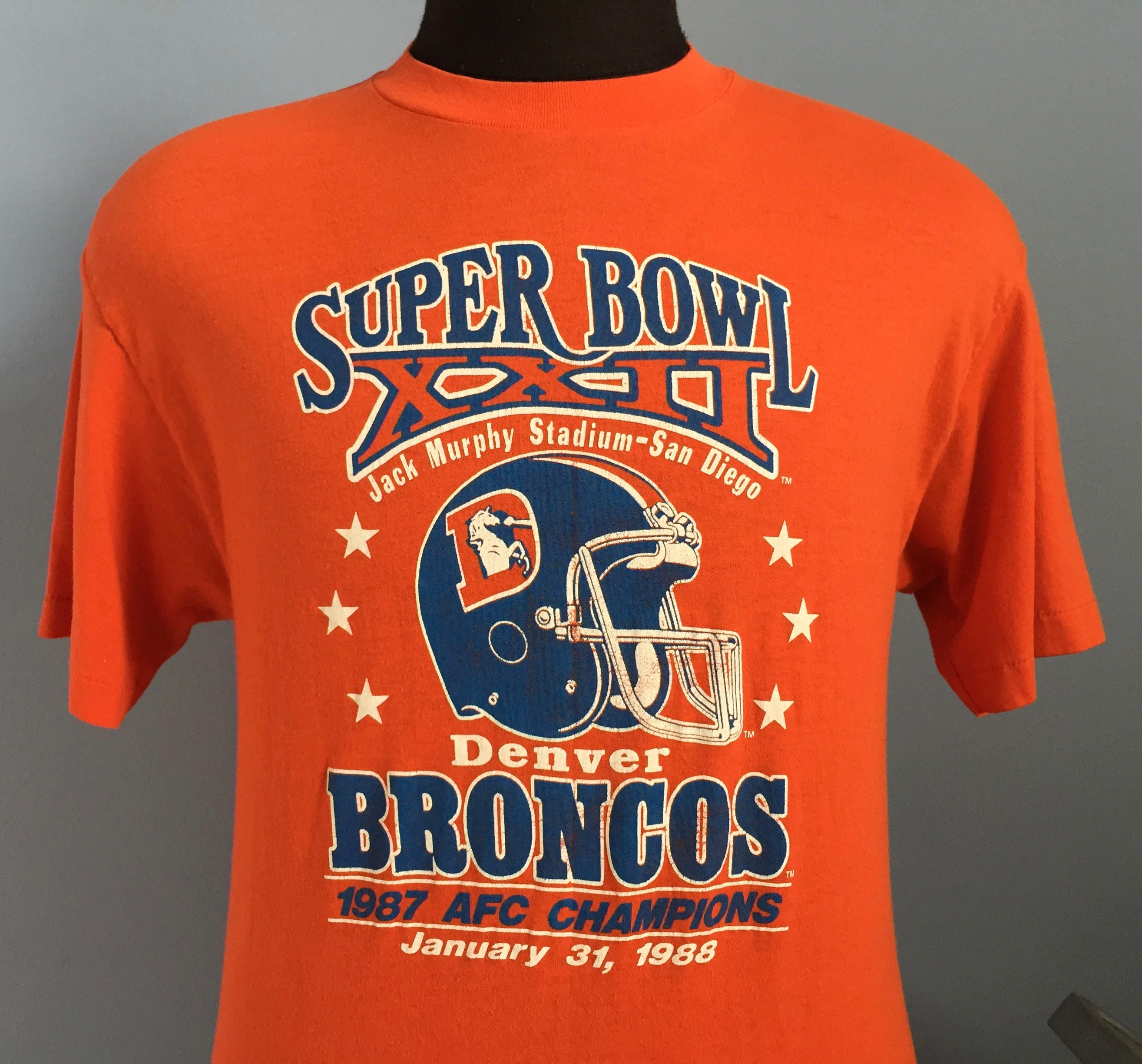 80s Vintage Denver Broncos Super Bowl XXII 1987 nfl football  82db3e6e8