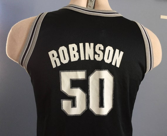 low priced 54589 718d6 90s Vintage David Robinson #50 San Antonio Spurs youth nba basketball  jersey T-Shirt - SMALL
