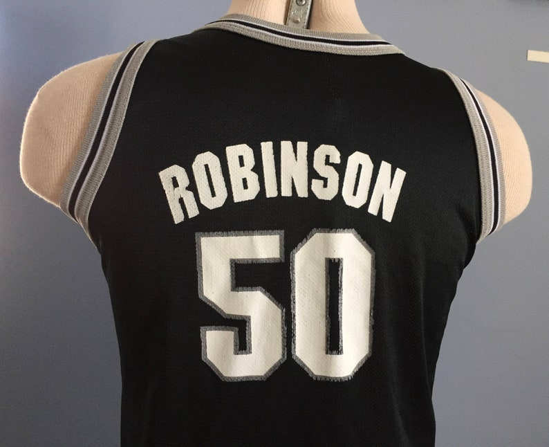 90s Vintage David Robinson 50 San Antonio Spurs youth nba  14e7555e4