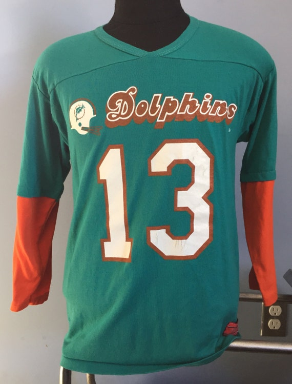 meet 2bab6 56b5d 80s Vintage Dan Marino #13 Miami Dolphins nfl football Rawlings Jersey  T-Shirt - LARGE