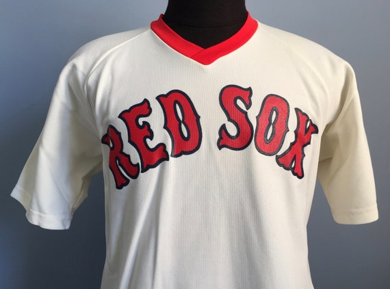 new styles 531e7 91e2f 80s Vintage Boston Red Sox baseball mlb Medalist Sand-Knit jersey T-Shirt -  XL X-LARGE