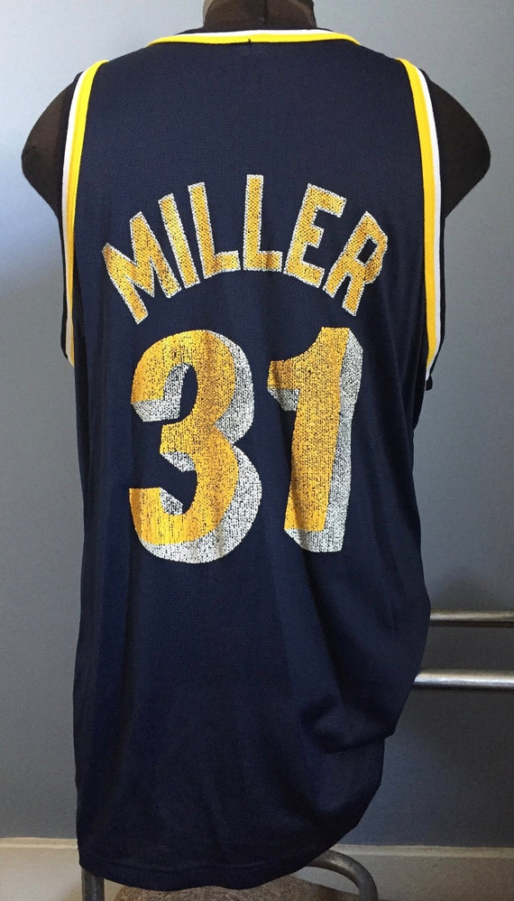 "Reggie Miller Indiana Pacers /""Miller Time/"" jersey T-shirt  S-5XL"