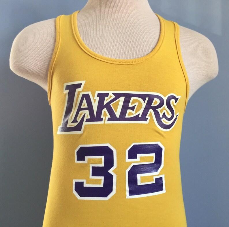 e54005d06 80s Vintage Magic Johnson 32 Los Angeles Lakers nba