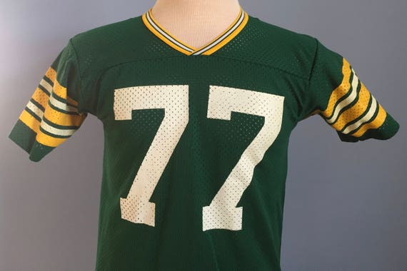 80s 90s Vintage Tony Mandarich  77 Green Bay Packers youth nfl football  Rawlings Jersey T-Shirt - SMALL 2d6c8b9a3