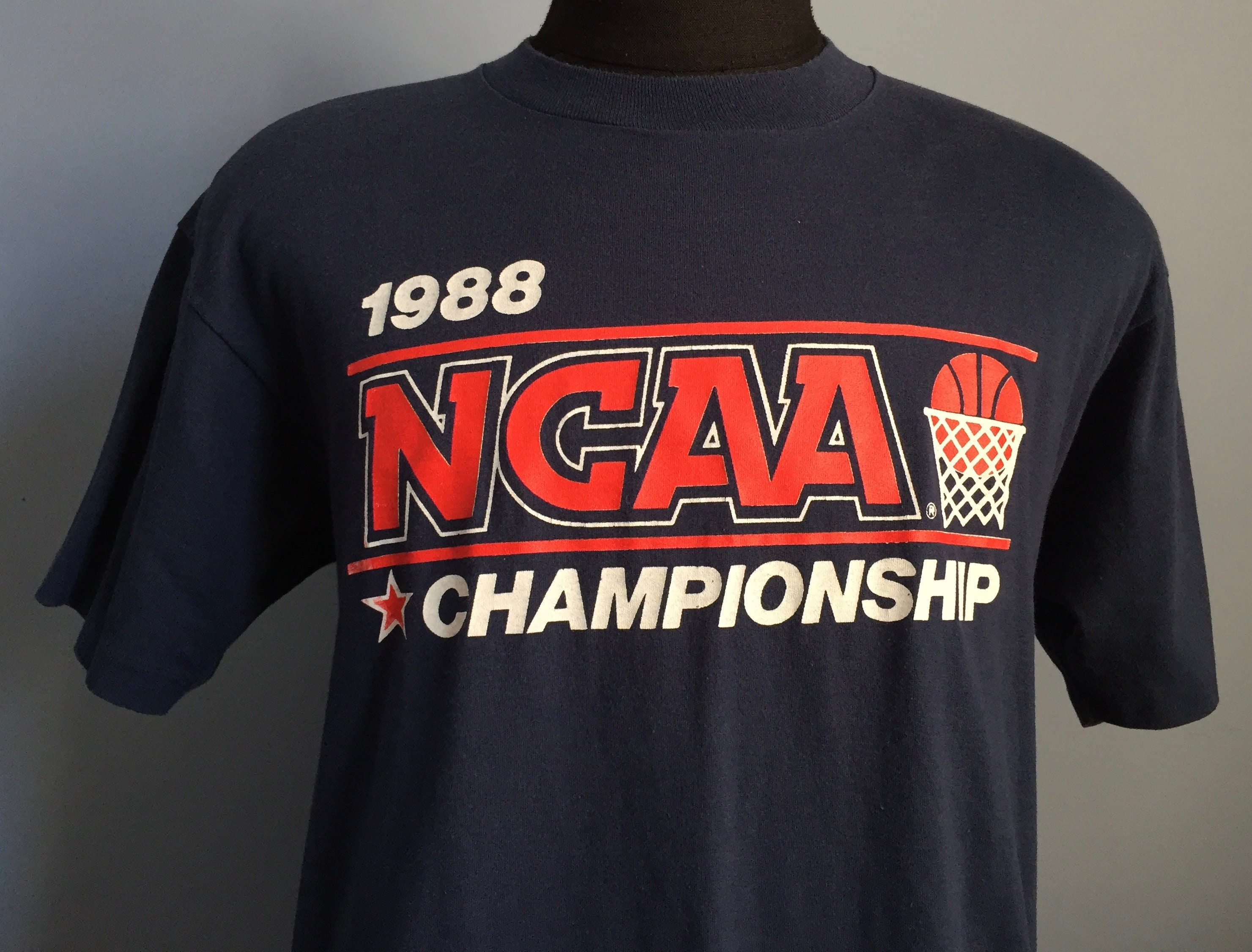 1266c5eb 80s Vintage NCAA Championship 1988 basketball Kansas Jayhawks | Etsy