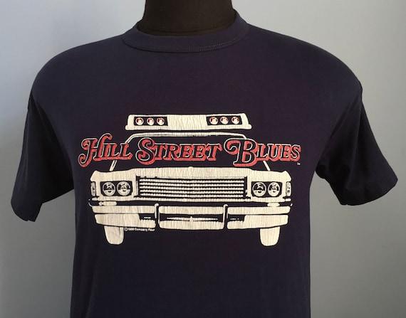 80s Hill Street Blues T.V. Promo T-Shirt. Vintage 1980s Single Stitch Hill Street Blues
