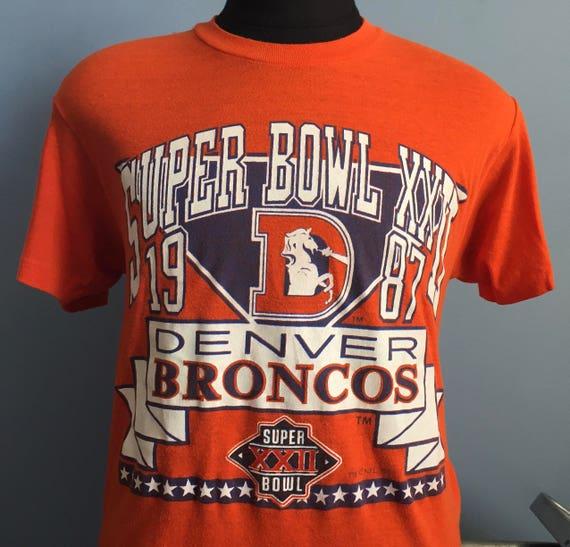 80s Vintage Denver Broncos Super Bowl XXII 1987 1988 nfl  018cb0af9