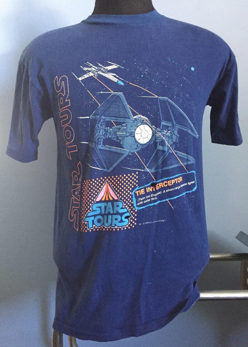 89f2281e09 Anni ' 80 film vintage Star Wars Star Tours Disneyland Tie | Etsy