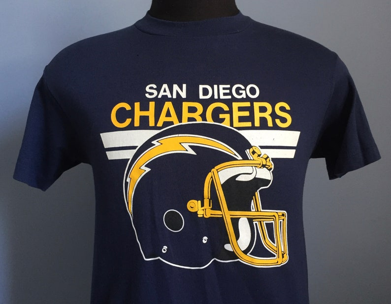 80s Vintage San Diego Chargers NFL football T-Shirt SMALL  1dc6fd340