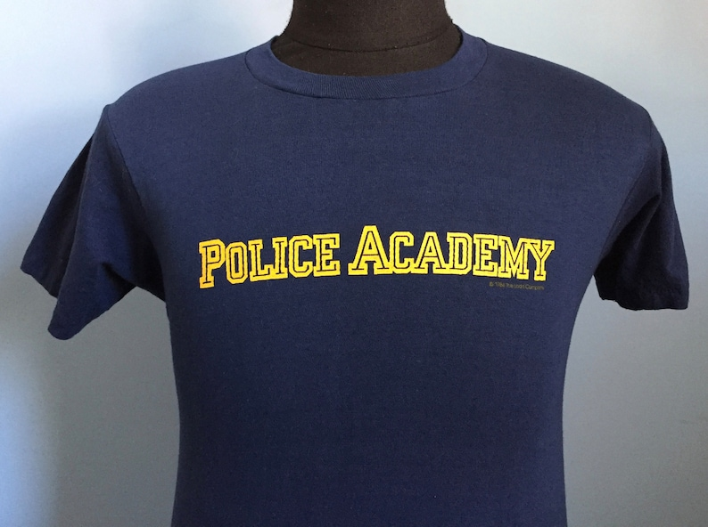 80s Vintage Police Academy 1984 movie Ladd Company deadstock dead stock  promo T-Shirt - SMALL