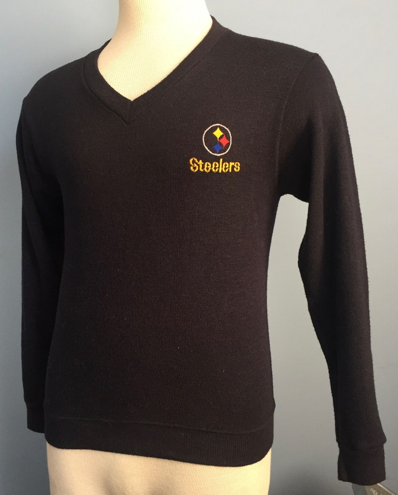 0b4b860a2 70s 80s Vintage Pittsburgh Steelers nfl football Sweater XS