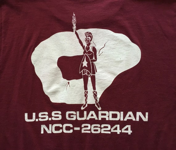 80s Vintage Star Trek the Role Playing Game U S S  Guardian NCC-26244 board  tv television T-Shirt - MEDIUM