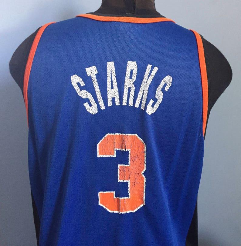 free shipping 32fb5 6a20a 90s Vintage John Starks #3 New York Knicks nab basketball Champion jersey  Shirt - LARGE 48