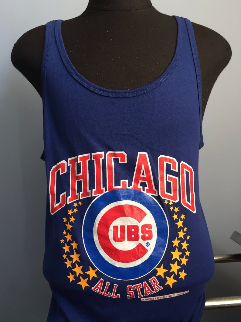 new concept a9e4d ef885 80s Vintage Chicago Cubs All Star 1988 mlb baseball tank top sleeveless  T-Shirt - LARGE