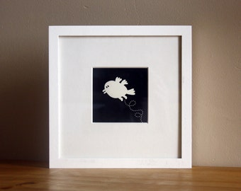 Silkscreen, Illustration, Print, Little Bird
