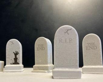 miniature tombstones
