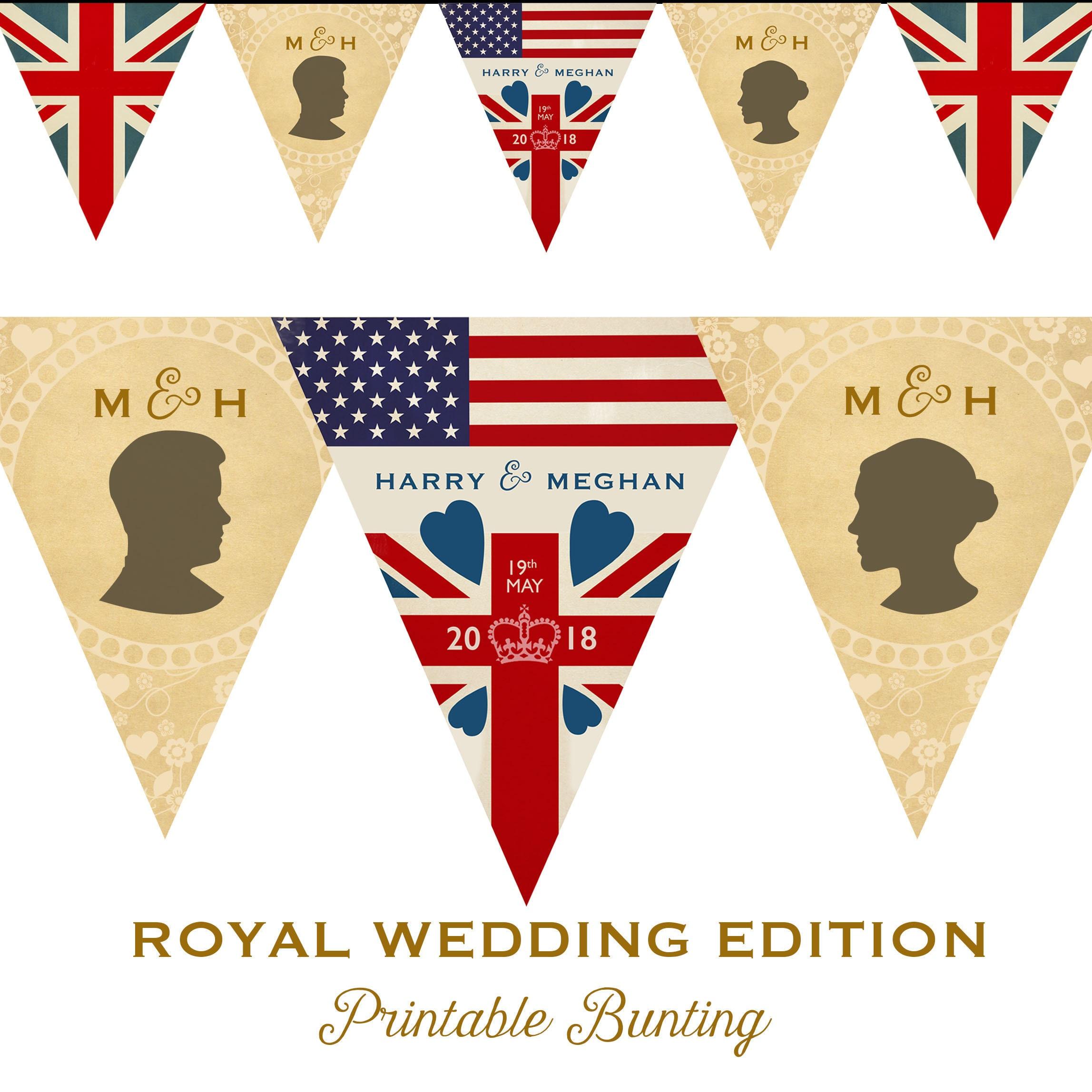 Royal Wedding Printable Party Bunting British Street Party