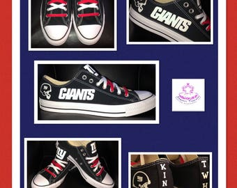 Adult Personalized New York Giants Converse