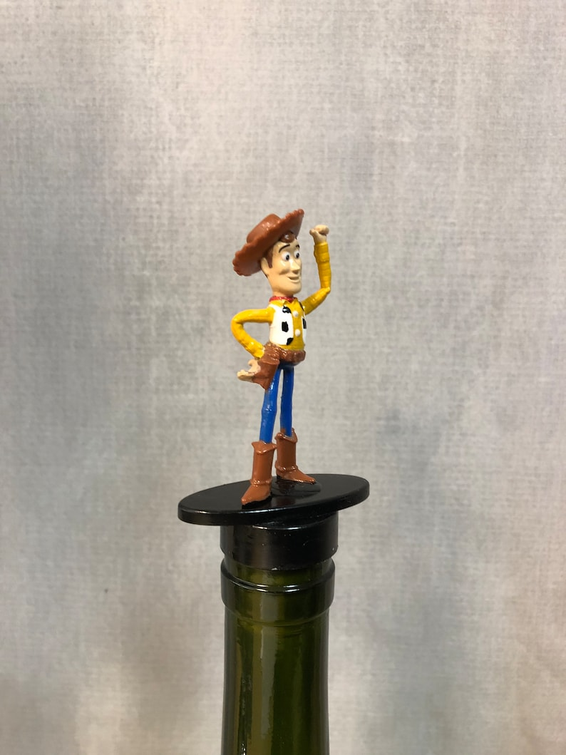 Alcohol cartoon  Wine Gift Wine Drinking Gift Wine Gift Animated Movie Toy Story Bottle Stopper Wine Lover Woody Toy Story Bar Gift