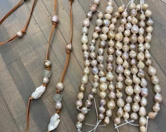 10-12mm drop baroque pearl strand,natural metallic copper bronze multi color large keshi pearl,similar kasumi pearl,large hole pearl bead