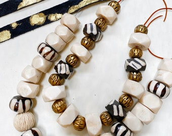 Details about  /African Bone Beads 71128