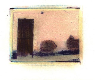 Calle Matamores -  Archival Print of an Original Polaroid Transfer, Signed Limited Edition 8x10 Matted