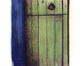 La Entrada Verde -  Archival Print of an Original Polaroid Transfer, Signed Limited Edition 8x10 Matted