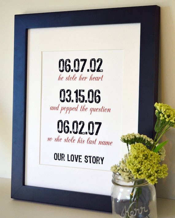 Traditional 1st Wedding Anniversary Gifts: Items Similar To Gift For Husband 8x10 Wedding Gifts