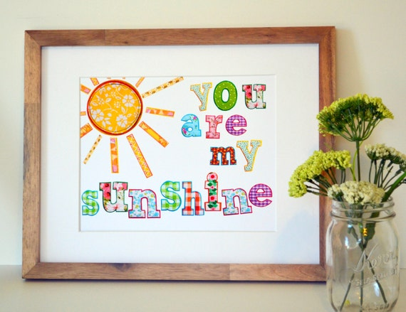 My Baby Girl S Nursery: Playroom Art 8x10 You Are My Sunshine Nursery Rhyme Baby