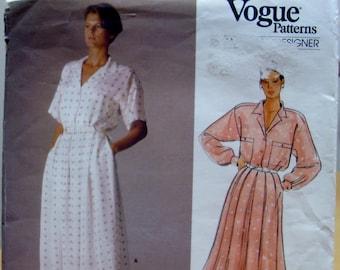 Vogue 1525 Calvin Klein designer dress 14 UNCUT