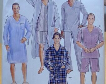 15b63b4370 Simplicity 1021 Men s pajamas and robe sewing pattern All sizes. UNCUT