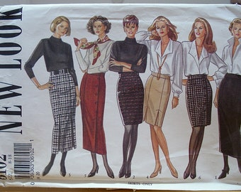 New Look 6102 Straight skirt sewing pattern 8-18 UNCUT