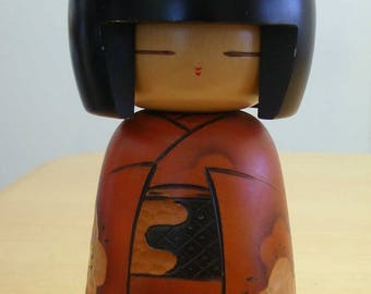 """Kokeshi 9"""" wooden doll from Japan"""