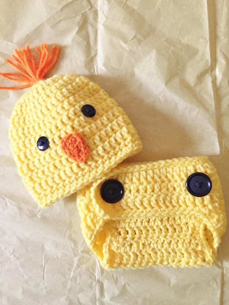 77569439fef Bébé poulet chapeau Crochet à couches nouveau-né Cover Set