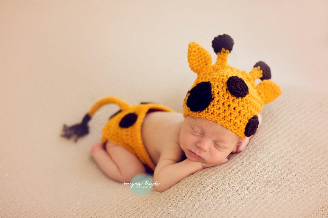 Giraffe Hat Baby Giraffe Diaper Cover Photo Prop Baby  4db1fa9de7c
