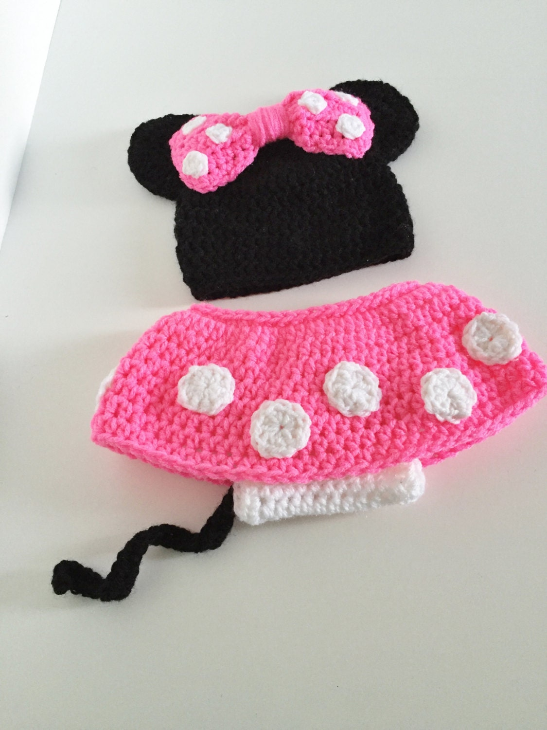 Minnie Mouse Outfit Baby Girl Halloween Costume Crochet
