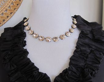 SwarovskI Light Silk Crystal Necklace