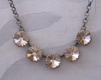 SwarovskI Vintage Rose Crystal Necklace
