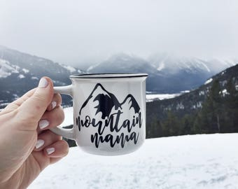 mountain mama 11oz ceramic mug