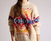 70s Pendelton unisex aztec printed sweater. One size fits most.