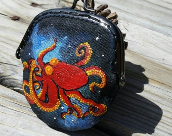 Octopus in Space Coin Purse