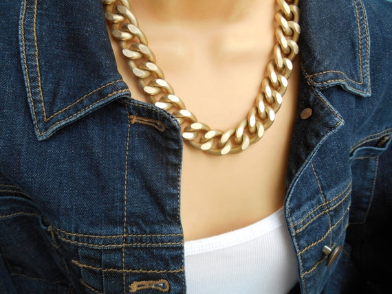 collier ras de cou grosse chaine