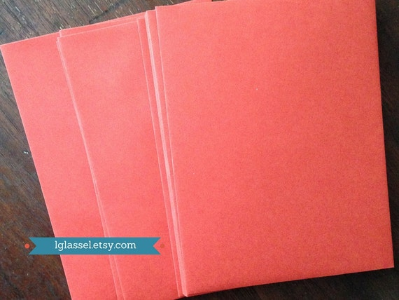 red envelopes size a2 20 envelopes etsy