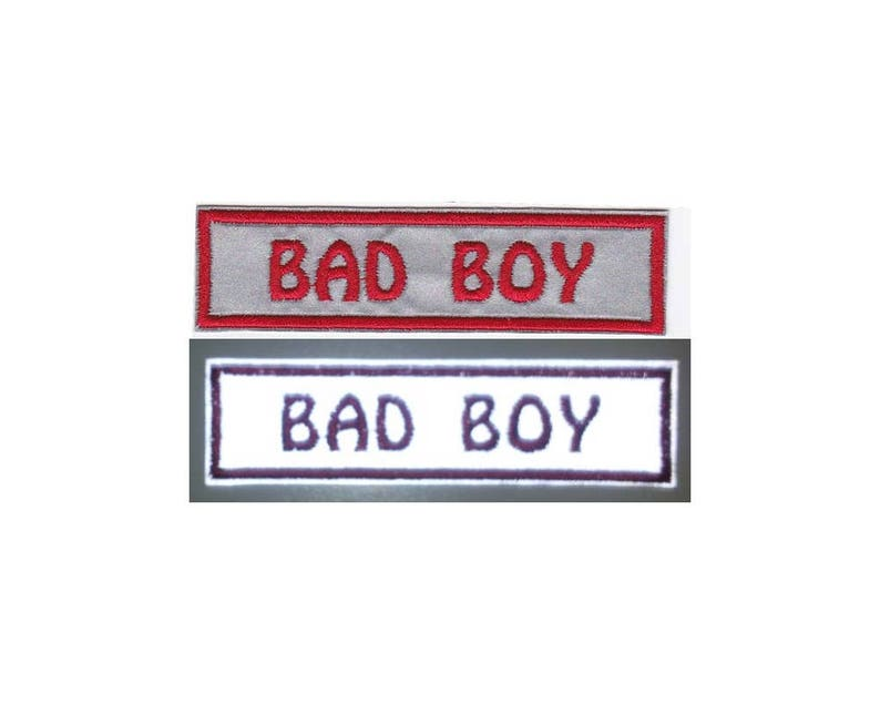 Custom 1 by 4 Reflective Patch Name Patch Name Tag Embroidered Name Patch  with VELCRO® Brand Fastener Available