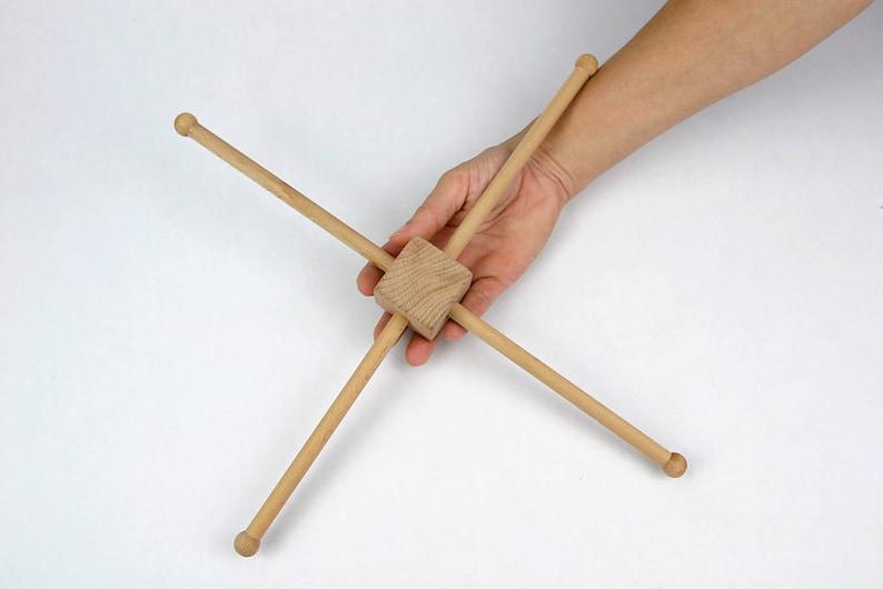 DIY Wooden Mobile Hanger  Natural / Unfinished 14.4  image 1