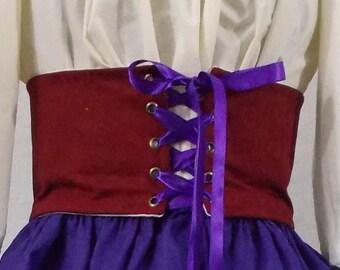 Waist Cincher Wide Lace Up Belt
